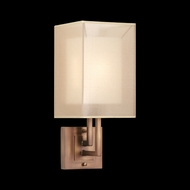 Fine Art Lamps 586750 Quadralli Tall 1-light Modern Bronze Sconce