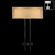 Fine Art Lamps 436450-2 Quadralli Silver 2-light Modern Wall Sconce Light