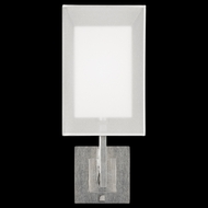 Fine Art Lamps 586750-2 Quadralli Silver Tall 1-light Contemporary Sconce