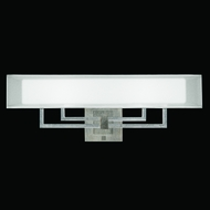 Fine Art Lamps 586350-2 Quadralli Silver 2-light Wide Contemporary Sconce Fixture