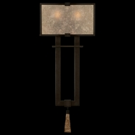 Fine Art Lamps 600550 Singapore Moderne 2-light Tall Modern Sconce in Bronze