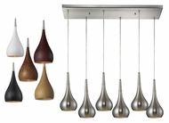 ELK 31340/6rc Lindsey 30 Inch Wide Satin Nickel Multi Pendant With Rectangle Canopy