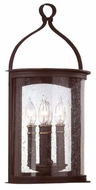 Troy B9472FBK Scarsdale Traditional Outdoor Wall Sconce - 10 inches wide