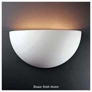 Justice Design 1100 Ambiance Really Big Quarter Sphere Wall Sconce