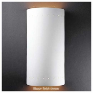 Justice Design 1195 Ambiance Really Big Cylinder w/ Perforations Open Top Wall Sconce