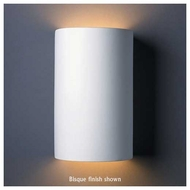 Justice Design 1265 Ambiance Large Cylinder Wall Sconce, Open Top