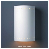 Justice Design 1290 Ambiance Large Cylinder w/ Perforations Wall Sconce, Closed Top