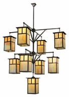 Meyda Tiffany 110802 Hyde Park T Mission 64 Inch Diameter 9 Lamp Craftsman Chandelier Light