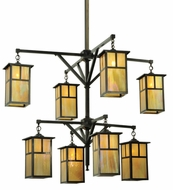 Meyda Tiffany 111106 Hyde Park T Mission 2 Tier 8 Lamp Craftsman Chandelier - 52 Inch Diameter