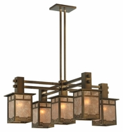 Meyda Tiffany 131646 Roylance Antique Copper 35 Inch Wide Craftsman chandelier Light Fixture