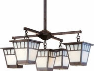 Arroyo Craftsman SCH-11/4-1 Savannah Craftsman 5 Light Chandelier - 40.875 inches wide