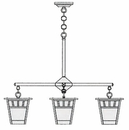 Arroyo Craftsman SCH-7/4 Savannah Craftsman 4 Light Chandelier - 31.875 inches wide