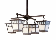 Arroyo Craftsman SCH-7/4-1 Savannah Craftsman 5 Light Chandelier - 31.875 inches wide