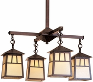 Arroyo Craftsman RCH-8/4 Raymond Craftsman 4-Light Chandelier - 37.875 inches wide