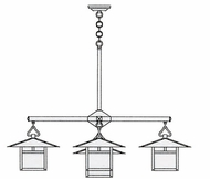 Arroyo Craftsman MCH-12_4-1 Monterey Craftsman 5 Light Chandelier - 41.375 inches wide