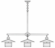 Arroyo Craftsman MCH-17/4 Monterey Craftsman 4 Light Chandelier - 62.5 inches wide