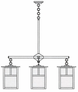 Arroyo Craftsman MCH-10/4 Mission Craftsman 4 Light Chandelier - 39.875 inches wide