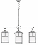 Arroyo Craftsman MCH-10/4-1 Mission Craftsman 5 Light Chandelier - 39.875 inches wide