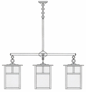 Arroyo Craftsman MCH-15/4 Mission Craftsman 4 Light Chandelier - 60.5 inches wide