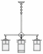 Arroyo Craftsman MCH-7/4-1 Mission Craftsman 5 Light Chandelier - 31.625 inches wide