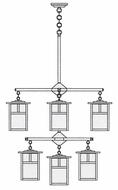 Arroyo Craftsman MCH-7/4/4-1 Mission Craftsman 9 Light Chandelier - 31.625 inches wide