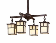Arroyo Craftsman MCH-5/4 Mission Craftsman 4 Light Chandelier - 23.375 inches wide