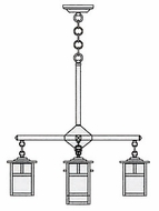 Arroyo Craftsman MCH-5/4-1 Mission Craftsman 5 Light Chandelier - 23.375 inches wide