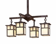 Arroyo Craftsman MCH-6/4 Mission Craftsman 4 Light Chandelier - 24.5 inches wide