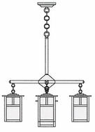 Arroyo Craftsman MCH-6/4-1 Mission Craftsman 5 Light Chandelier - 24.5 inches wide
