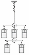 Arroyo Craftsman MCH-6/4/4 Mission Craftsman 8 Light Chandelier - 24.5 inches wide