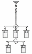 Arroyo Craftsman HCH-4L_4_4 Huntington Craftsman 8 Light Chandelier