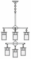 Arroyo Craftsman HCH-4L_4_4-1 Huntington Craftsman 9 Light Chandelier