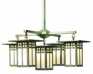 Arroyo Craftsman GCH-9/4-1 Glasgow Craftsman 5 Light Chandelier - 33.375 inches wide