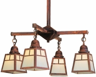 Arroyo Craftsman ACH-4 A-Line Craftsman 4-Light Chandelier