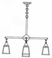Arroyo Craftsman ACH-4-1 A-Line Craftsman 5-Light Chandelier