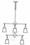 Arroyo Craftsman ACH-4/4 A-Line Craftsman 8-Light Chandelier