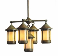 Arroyo Craftsman BCH-6/4-1 Berkeley 5 Light Chandelier - 23.125 inches wide