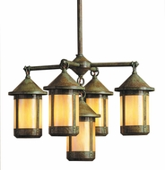 Arroyo Craftsman BCH-7/4-1 Berkeley 5 Light Chandelier - 28.375 inches wide