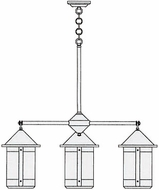Arroyo Craftsman BCH-8/4 Berkeley 4 Light Chandelier - 33.75 inches wide