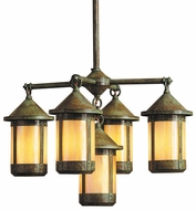 Arroyo Craftsman BCH-8/4-1 Berkeley 5 Light Chandelier - 33.75 inches wide