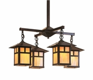 Arroyo Craftsman ECH-9/4 Evergreen Craftsman 4 Light Chandelier - 33.375 inches wide