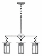Arroyo Craftsman GCH-6L/4 Glasgow Craftsman 4 Light Long Body Chandelier - 24.5 inches wide