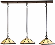 Arroyo Craftsman UICH-11/3 Utopian Craftsman 3 Light Pendant Light