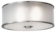 Feiss FM291BS Casual Luxury Flush Mount Ceiling Light in Brushed Steel