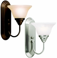 Kichler 10604 Telford Nickel Or Bronze Contemporary Torch Wall Sconce