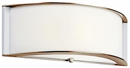 Kichler 10630PN Arcola 15 Inch Wide Half Circle Nickel Sconce Light