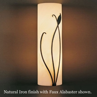 Hubbardton Forge 20-5772r Forged Leaf & Stems Faux Alabaster Wall Sconce, Right