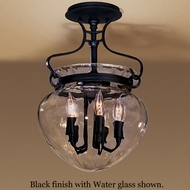 Hubbardton Forge 12-6754 Acharn Water Glass Semi-Flush Ceiling Light