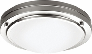 Philips F2450-36N1 West End Contemporary Fluorescent Satin Nickel Flushmount - 10.625 inches wide