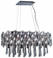 Maxim 39926BCPC Jewel 19-light Crystal Contemporary Kitchen Island Lighting Fixture